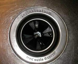 garbage disposal top view